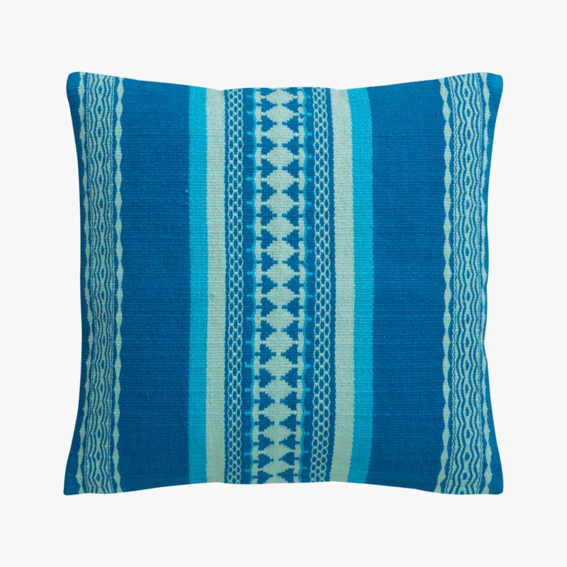 "saudades blue 16"" pillow with down-alternative insert"
