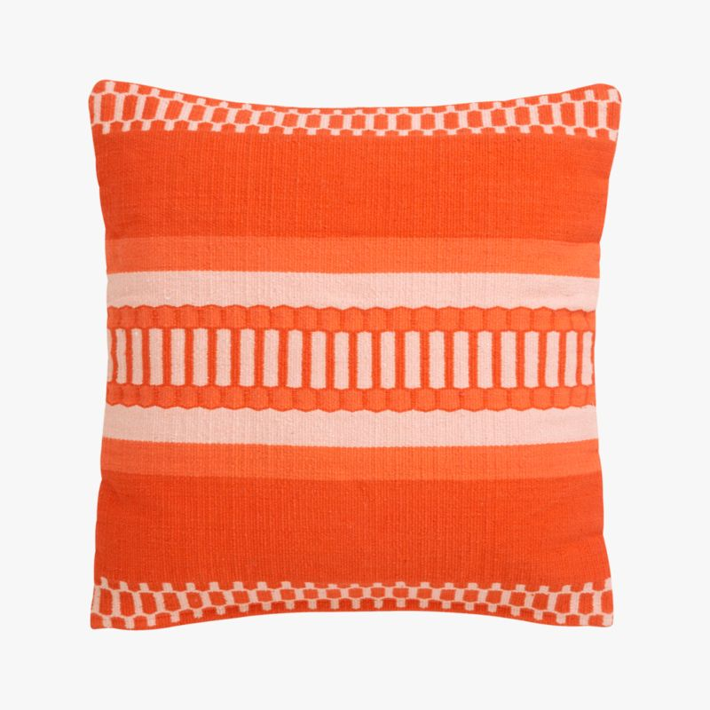 "saudades orange 18"" pillow with down-alternative insert"