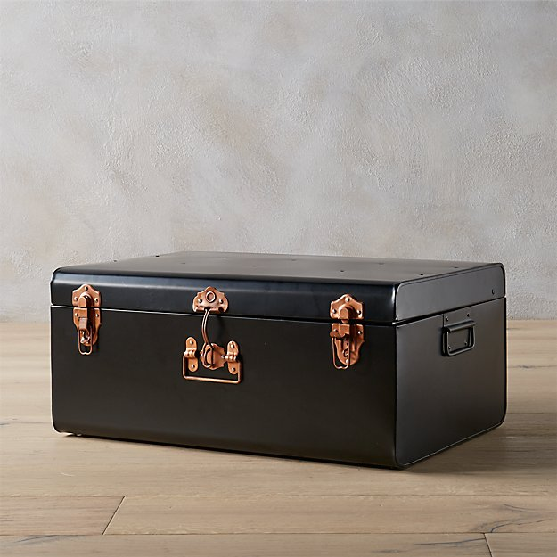 large matte black suitcase