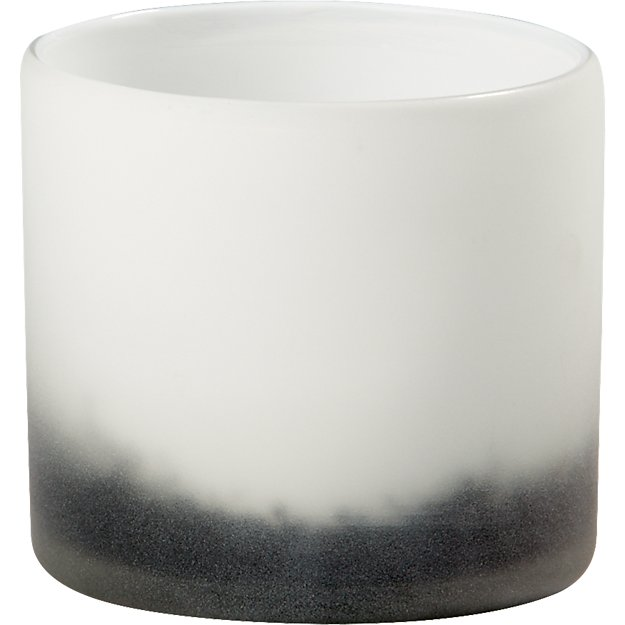 sumi glass tea light candle holder