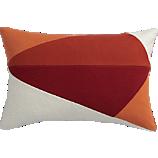 Pintuck Red Orange 18 Quot Pillow Cb2