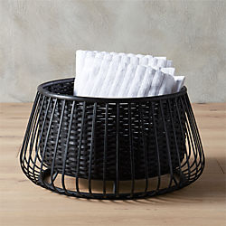 suspend black basket