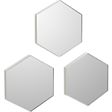 "swarm 13""x15"" wall mirrors set of 3 three"