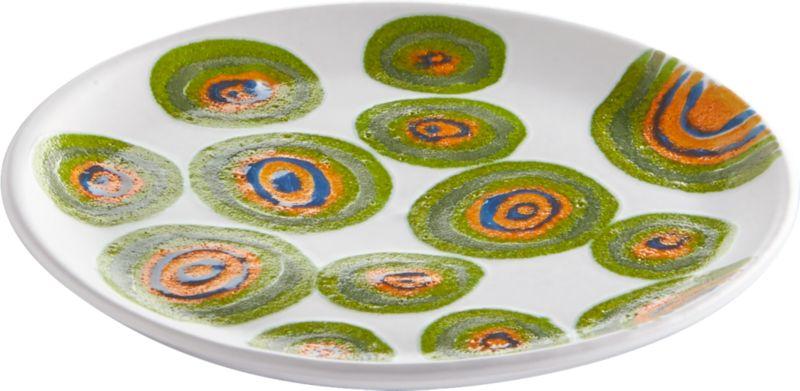 swirly matte white appetizer plate