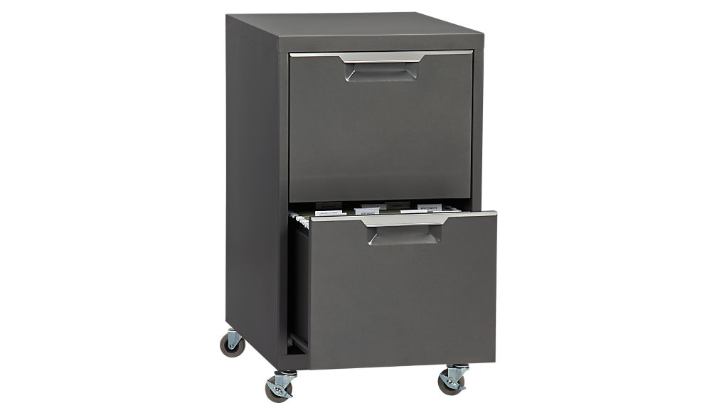 TPS carbon 2-drawer filing cabinet