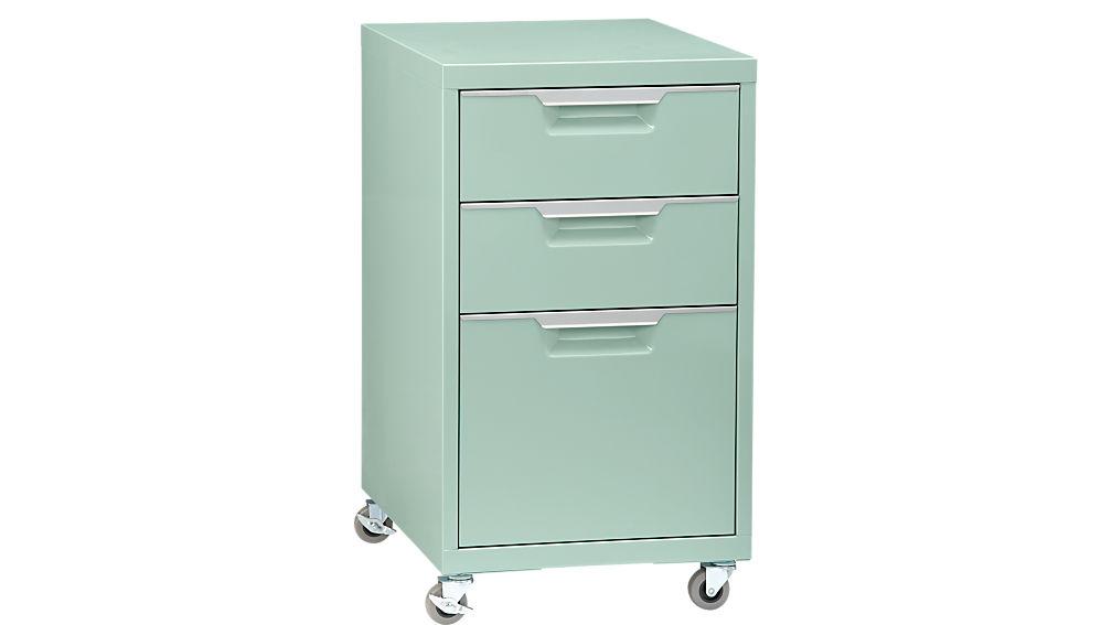 TPS Mint 3 Drawer Filing Cabinet