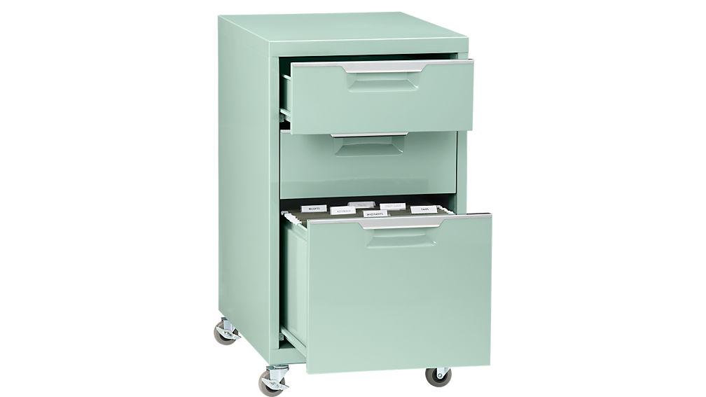 TPS mint 3-drawer filing cabinet
