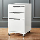 TPS white 3-drawer filing cabinet.