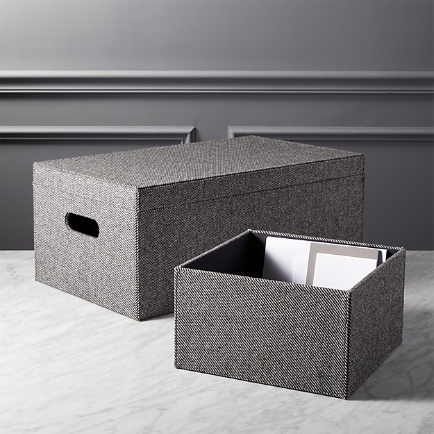 tailor open storage boxes