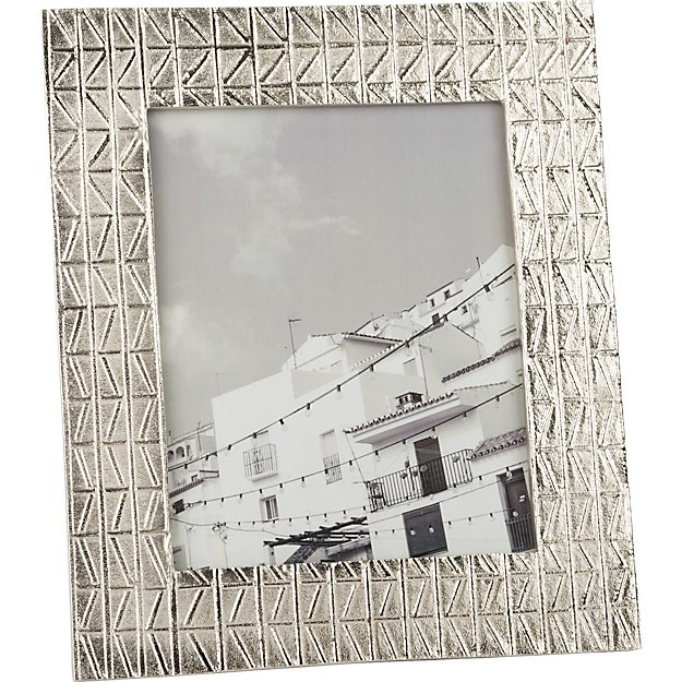 taj embossed 8x10 nickel picture frame