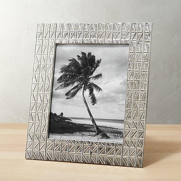 taj embossed 8x10 nickel picture frame