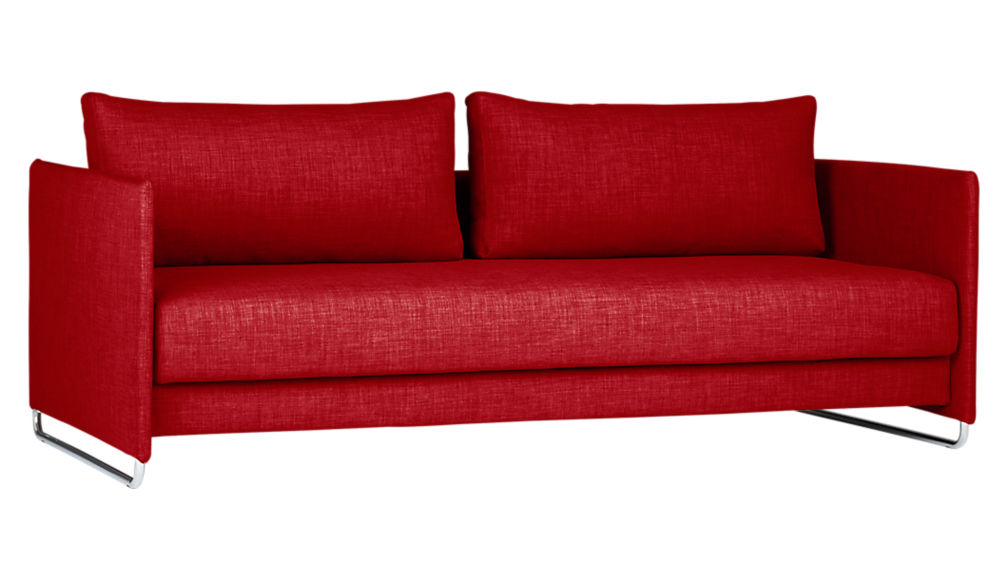 tandom red sleeper sofa