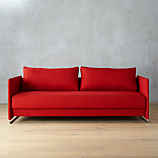 tandom red sleeper sofa