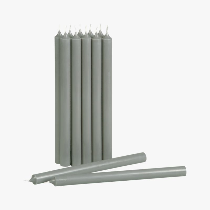 grey taper candles set of 12