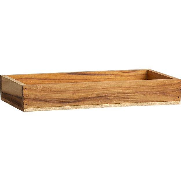 teak rectangular stacking box
