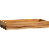 teak rectangular stacking box