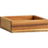 teak square stacking box