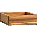 teak square stacking box