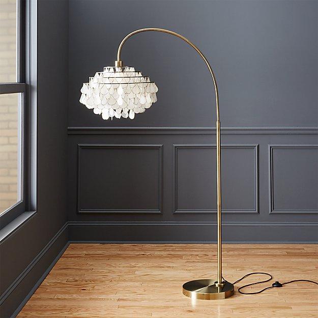 Teardrops Arc Floor Lamp Cb2