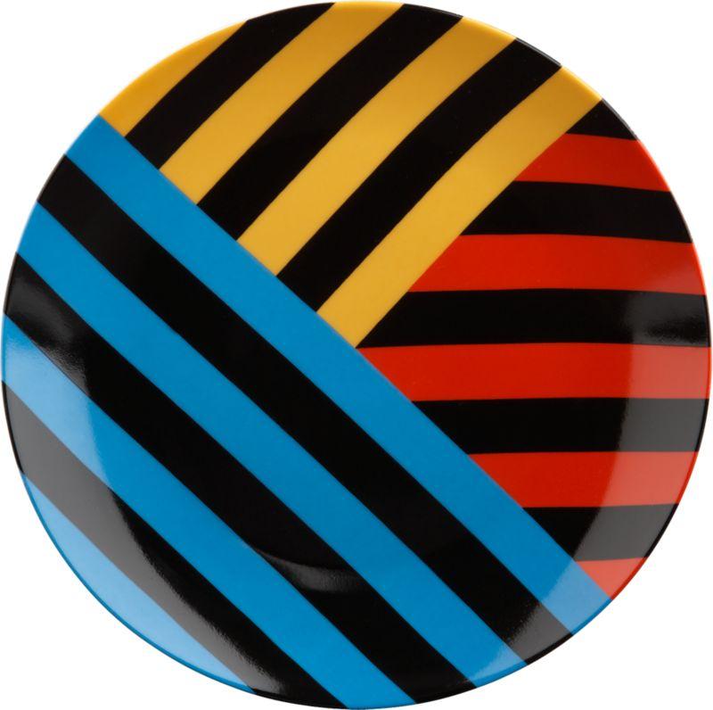 techno triple stripe plate