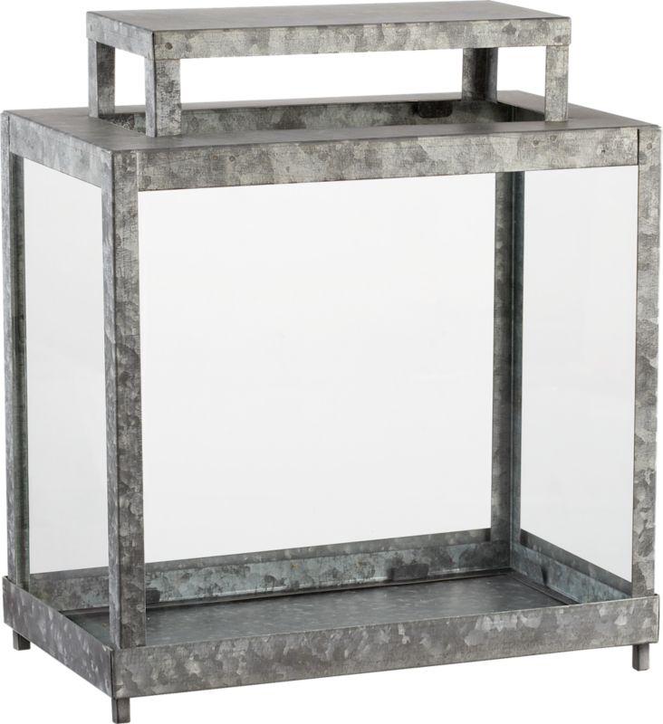 galvanized terrarium
