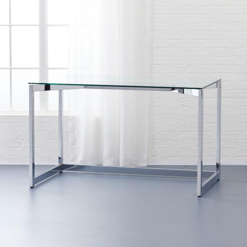 tesso chrome desk CB2 : TessoDeskSHS161x1 from www.cb2.com size 800 x 800 jpeg 36kB
