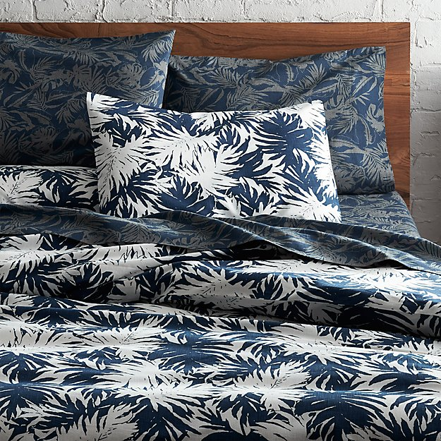 The Hill-Side palm leaves full/queen duvet cover