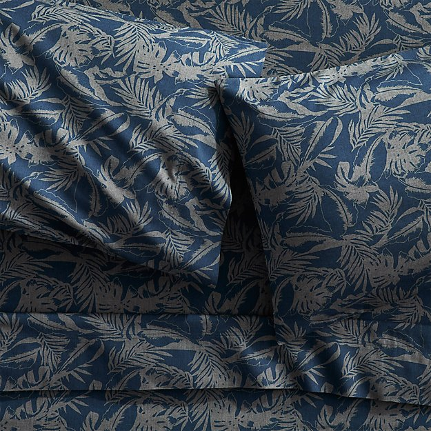 set of 2 The Hill-Side tropical leaves king pillowcases