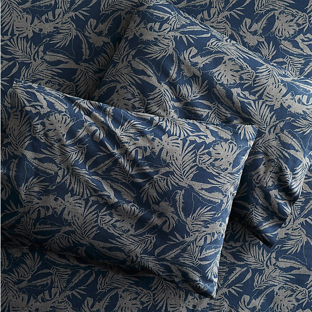 The Hill-Side tropical leaves king sheet set