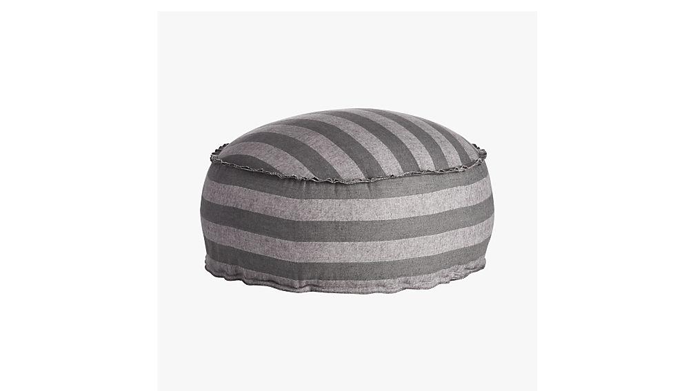 The Hill-Side grey-navy stripe pouf