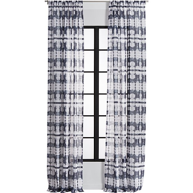 tie-dye pocket curtain panel