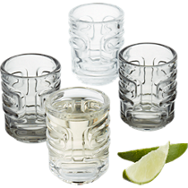 tiki stacking shot glasses set of four