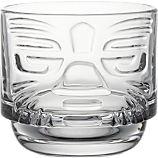 tiki clear stacking glass