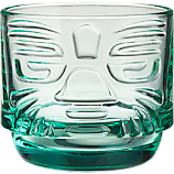 tiki aqua stacking glass