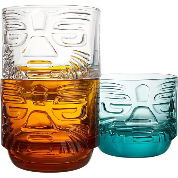 tiki stacking glasses
