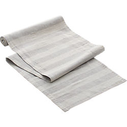 tonal grey linen table runner