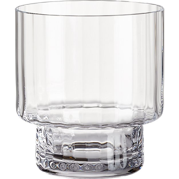 top heavy optic double old-fashioned glass