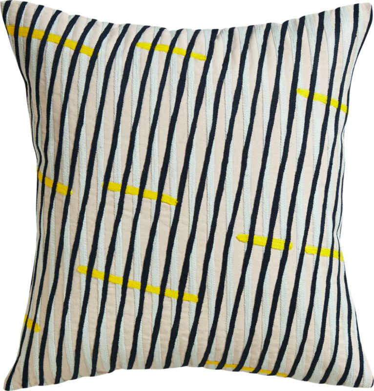 """topstitch 18"""" pillow with feather-down insert"""