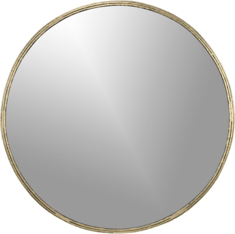 Tork brass dripping 30 wall mirror cb2 for Big circle mirror