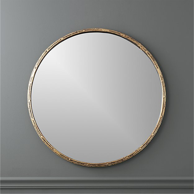 "tork brass dripping 30"" wall mirror"