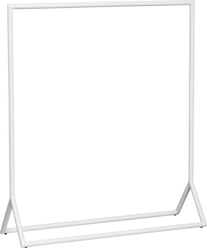 white metal towel rack