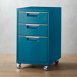 TPS teal 3-drawer filing cabinet