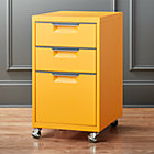 TPS marigold 3-drawer filing cabinet.