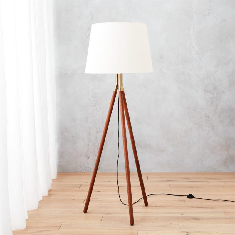 Tres floor lamp cb2 for Modern floor lamp cb2