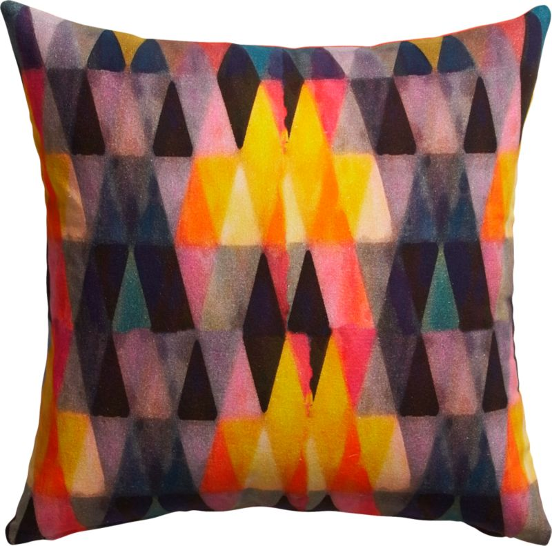 "triangle haze 18"" pillow with feather-down insert"