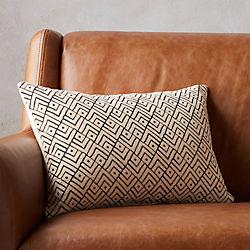"triangle lattice 18""x12"" pillow"