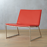 triumph red-orange lounge chair