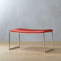 triumph red-orange ottoman