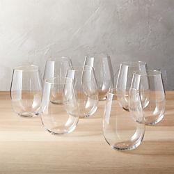 true stemless wine glasses set of eight