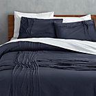 twisted navy full/queen duvet.